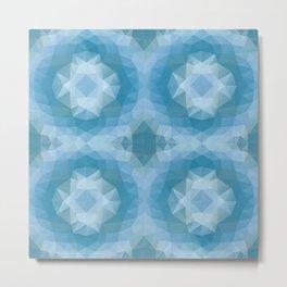 Mozaic design in soft blue colors Metal Print