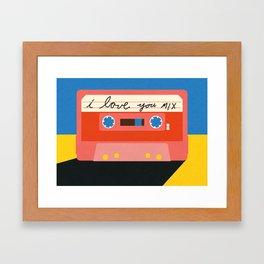 I love you MIX tape Framed Art Print