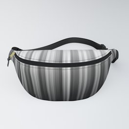 Black And White Soft Vertical Lines - Ombre Abstract Blurred Design Fanny Pack