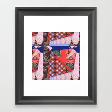 Girly_pattern_toxic_cute pattern Framed Art Print