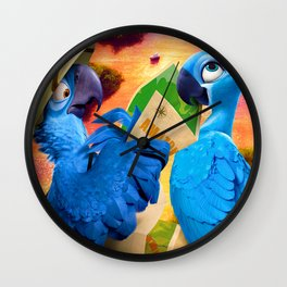Wild Parrots Trip Wall Clock