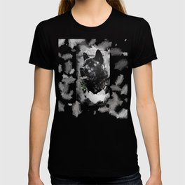 Akita Black Love Ink Portrait T-shirt