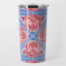 Pink Panther Pattern Travel Mug