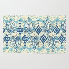 lotus diamond blue Rug