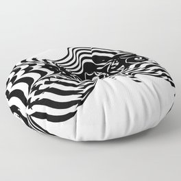 Psycho wave clear Floor Pillow