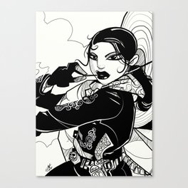 Lady Outlaw. Canvas Print