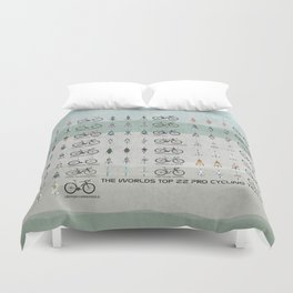 Pro Cycling Teams Duvet Cover