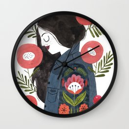Hippie Girl Wall Clock