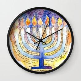 Chanukah Song Wall Clock