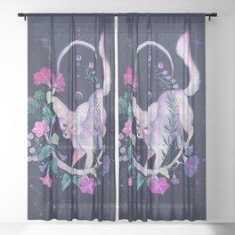 Cosmic Fox Sheer Curtain