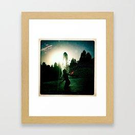 Jeux d'eau, Place Stalingrad, Paris. Framed Art Print