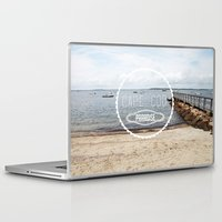 cape cod Laptop & iPad Skins featuring Cape Cod Paradise  by Caroline Fahey
