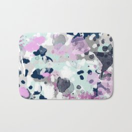 Berti - abstract minimal trendy color palette hipster home decor Bath Mat