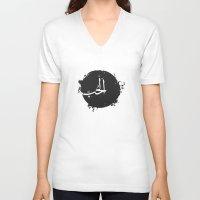 arabic V-neck T-shirts featuring LOVE Arabic by elyinspira