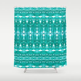 Aqua pattern Shower Curtain