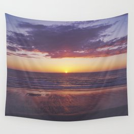 oregon coast sunset Wall Tapestry