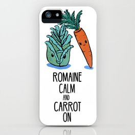 Romaine Calm and Carrot On iPhone Case