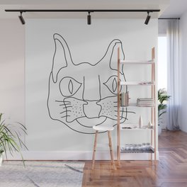 Le Chat Blanc Wall Mural