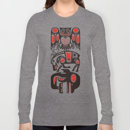 Haida tribal three animals Long Sleeve T-shirt