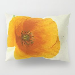 Lonesome Poppy Flower (Yellow version) Pillow Sham