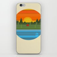 camping iPhone & iPod Skins featuring Camping by Becky Gibson