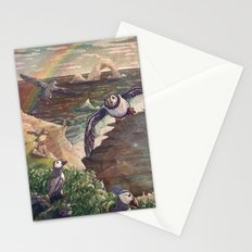 Cliffside Puffins Stationery Cards