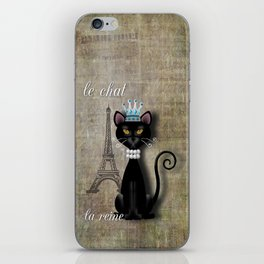 Le Chat, La Reine - The Cat, The Queen iPhone Skin