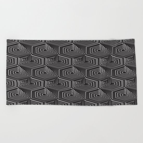 Long Train Running Beach Towel