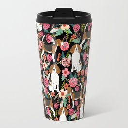 Beagle Floral design beagle florals dog design cute dogs Travel Mug