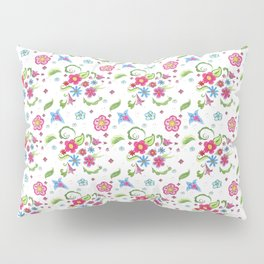 Whimsical Watercolor flowers Pillow Sham
