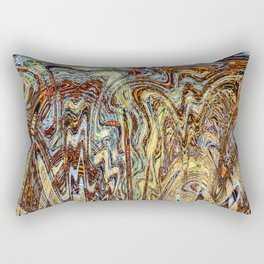 Scramble - Digital Abstract Expressionism Rectangular Pillow