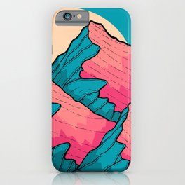 Turquoise peaks iPhone Case
