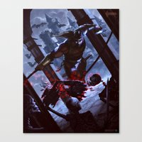 castlevania Canvas Prints featuring Castlevania by ImmarArt