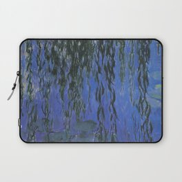 Water Lilies and Weeping Willow Branches by Claude Monet Laptop Sleeve