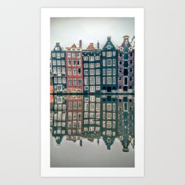 Amsterdam Canal Houses Art Print