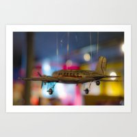 plane Art Prints featuring Plane by Sébastien BOUVIER