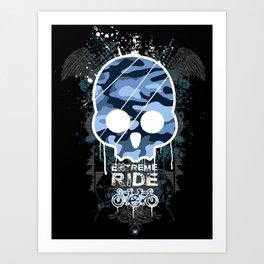 Extreme ride Art Print