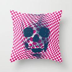 Op Art Skull #7 Throw Pillow