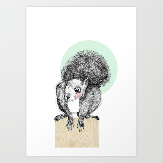 Squirrel Art Print