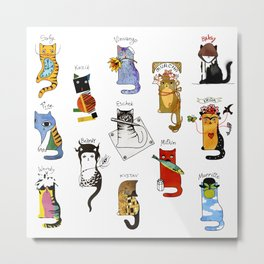 Legendary Art cats - Great artists, great painters. Metal Print