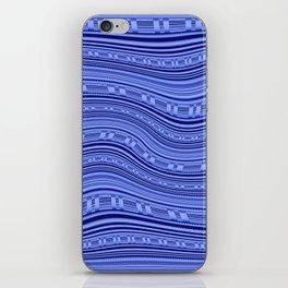 Optical Illusion Moving Stripes Indigo Blues iPhone Skin