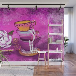 Cups and Pearls Wall Mural