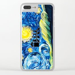 The Doctor With Starry Night Clear iPhone Case