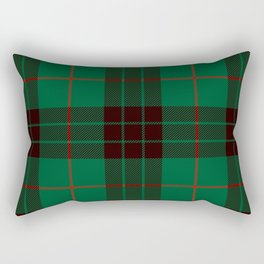 Dark Green Tartan with Black and Red Stripes Rectangular Pillow