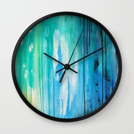 Drippy Paint Wall Clock