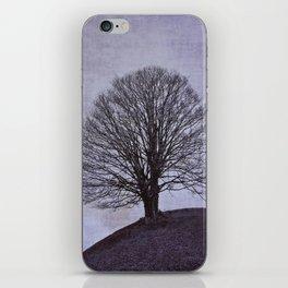 Tree in purple iPhone Skin