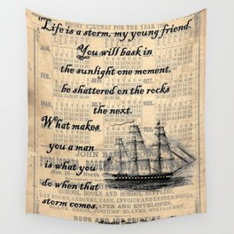 Count of Monte Cristo quote Wall Tapestry