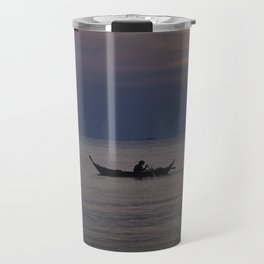 Rowing into the sunset II Travel Mug