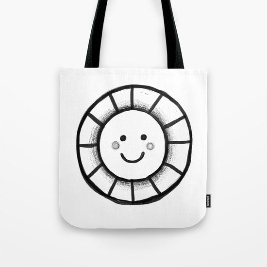 Sunny time smiley face Tote Bag