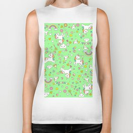 Unicorn Green Pattern Biker Tank